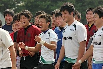 選手た笑顔